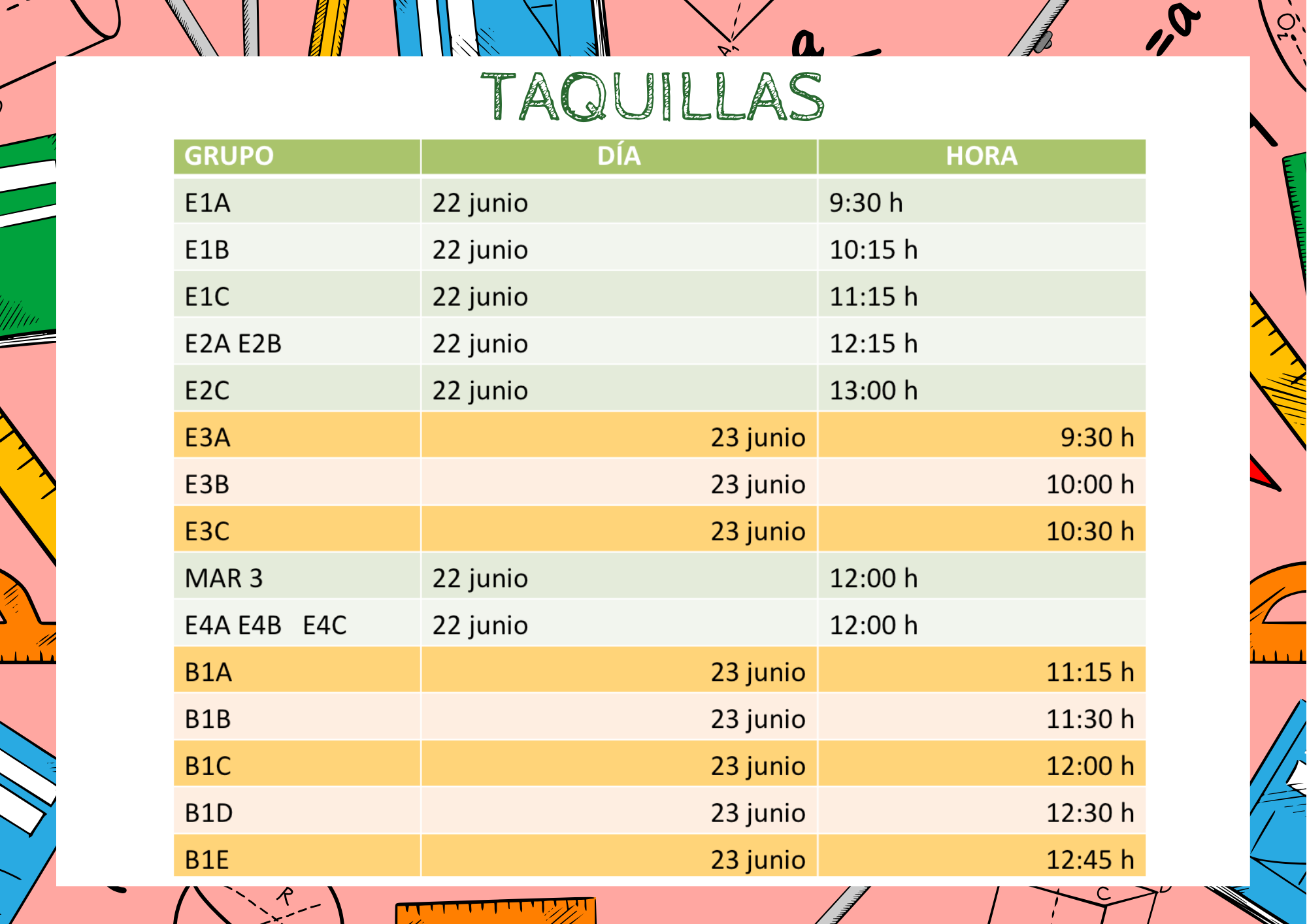 Taquilas pg